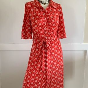 LAUNDRY SHELLY SEGAL BELTED BUTTON DOWN DRESS